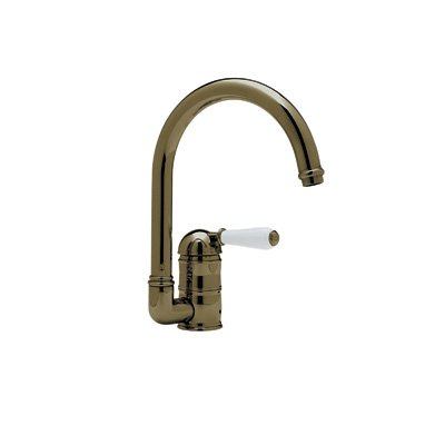 Single Lever C-Spout Country Kitchen Faucet With Sidespray
