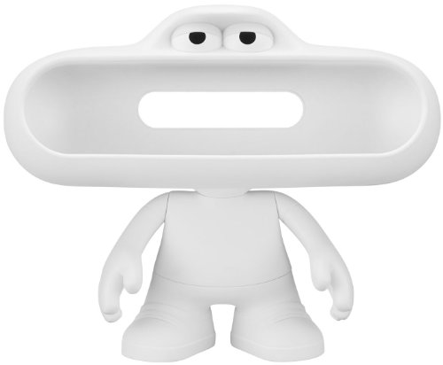 Beats Pill Character Stand (White) With Moveable Arms, Head And Customizable Matte Finish