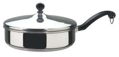 FARBERWARE Classic Stainless Steel Fry Pan - 10 Inch ~ With & Without Lid