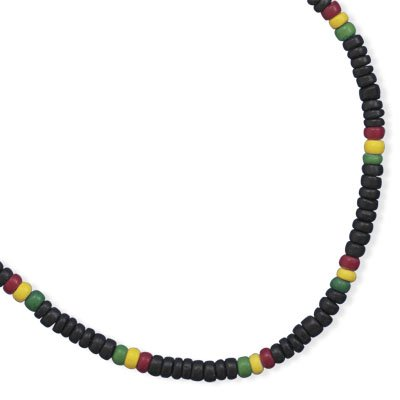 Heishi Coco Bead Fashion Mens Womens Teens Necklace Green Red Yellow