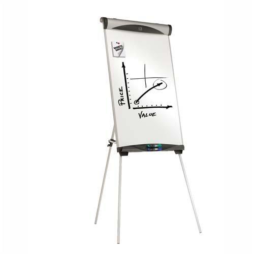 o Quartet o - Magnetic Dry-erase Easel, Adjustable Height, 73