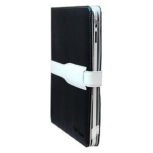 CrazyOnDigital Folio Black White Leather Case For Apple iPad