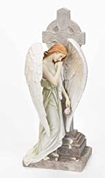 Angel with Celtic Cross Figurine by Roman, Inc.