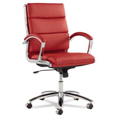 alera-nr4239-neratoli-series-mid-back-swivel-tilt-chair-red-leather-chrome-frame