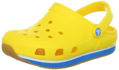 Crocs Crocs retro Clog (Toddler/Little Kid/Big Kid) ,Yellow/Ocean,12-13 M US Little Kid