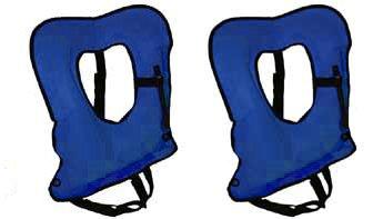 2 Pack Blue Explorer Adult Snorkel, Snorkeling Vest - Crafted in the USA