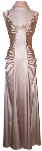 Satin Glam Holiday Formal Gown Prom Bridesmaid Dress
