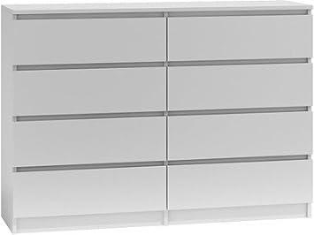 Kommode Schrank Klamotenschrank Wäscheschrank Sideboard 8 Schubladen Anrichte