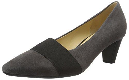 Gabor Shoes Basic, Scarpe Con Tacco Donna, Grigio (Dark-Grey 19), 36 EU