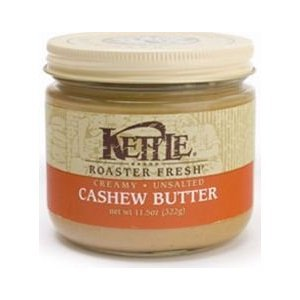 Kettle Creamy Cashew Butter, UNSALTED, 11.5 oz (Pack of 3)