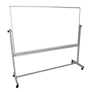 Luxor Mobile Double Sided 72x40 (WxH Inches) Reversible Dry-erase Adjustable Magnetic Whiteboard