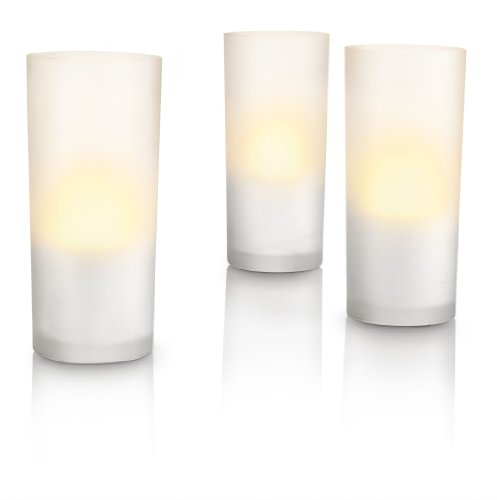 Philips Candlelights 6910860PH - Set de 3 velas con tecnolog�a LED  (blancas)