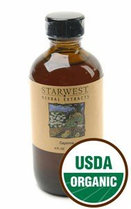 Cayenne Pepper Extract Organic - 4 Oz,(Starwest Botanicals)
