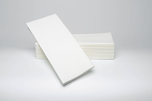 SimuLinen Dinner Napkins -WHITE - Decorative Cloth Like & Disposable Large Napkins - Soft, Absorbent & Durable (19