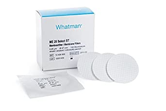 Whatman 10407312 Cellulose ME25/21 STL Mixed Ester Filter Membrane with 3.1mm White/Black Grid Sterile for Butler, 47mm Diameter, 0.45 Micron (Pack of 400)
