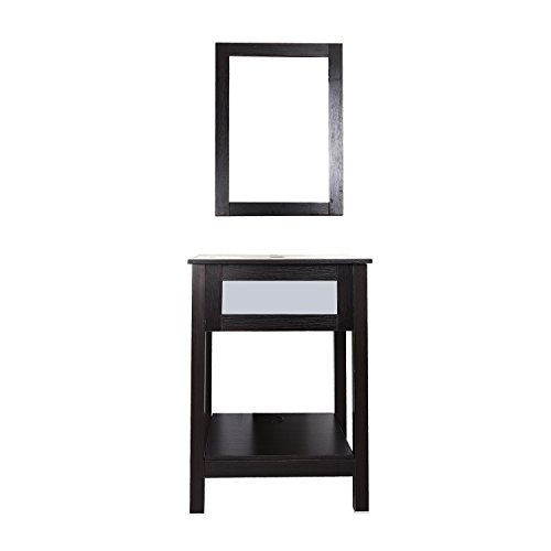 shelf dark espresso black with mirror furniture cabinets storage
