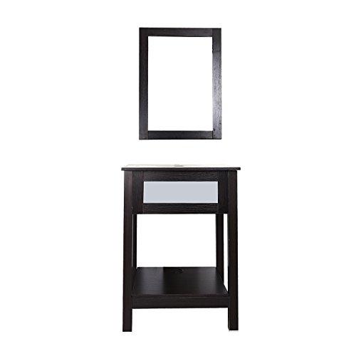 shelf dark espresso black with mirror furniture cabinets storage