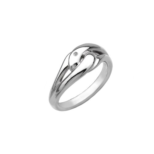 Hot Diamonds Capture Me Silver And Diamond Ring - Size N