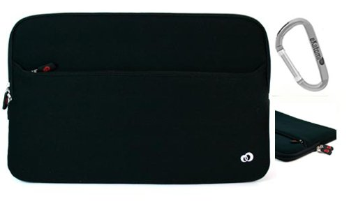 Black Laptop Bag for 15.6 inch Asus K50IJ-X3 Notebook + An Ekatomi Hook.