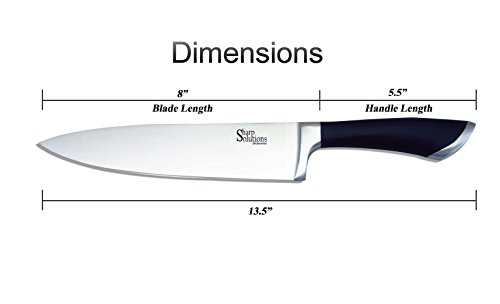 sharp solutions kitchenware chef knife the ultimate multipurpose kitchen knife features an 8. Black Bedroom Furniture Sets. Home Design Ideas