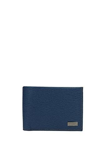 Portafogli Salvatore Ferragamo Uomo Pelle Blu 0588785DUTCHBLUE Blu 8.5x11 cm