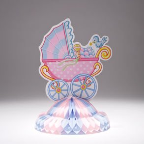 Baby Shower Carriage Centerpiece