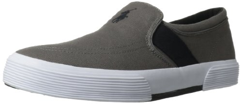 Polo Ralph Lauren Men's Fakenham Fashion Sneaker,Grey/Polo Black,9 D US
