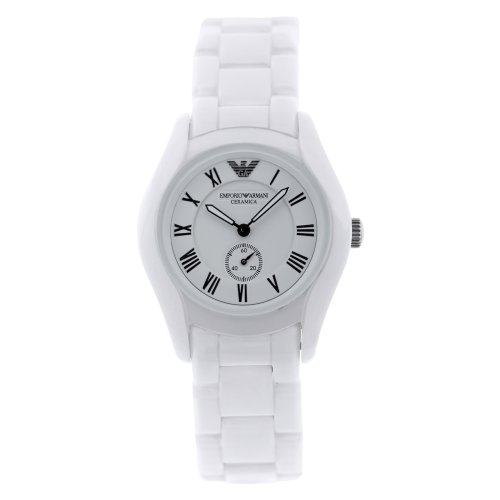 Emporio Armani Women's AR1405 Ceramic Analog with Ceramic Bezel Watch