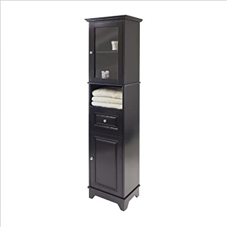 Tall Cabinet with Glass Door and Drawer