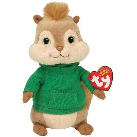 ": Ty Alvin and the Chipmunks 8"" Theodore Plush Doll Toy: Toys & Games"