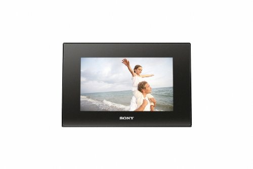 Sony DPF-D72 7-Inch LCD WVGA 16:10 Photo Frame (Black)