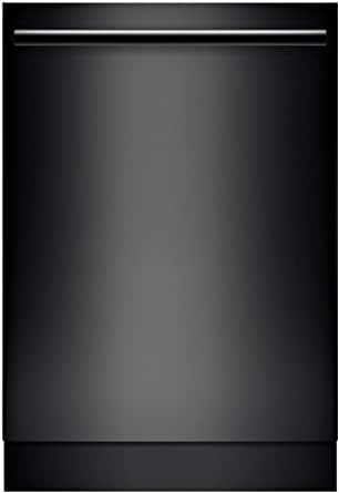 "Bosch SHX68T56UC 800 24"" Black Semi-Integrated Dishwasher - Energy Star"