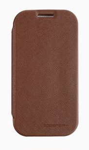 S4 Mini Case, Mercury Fancy Flip Style Diary Case For Samsung Galaxy Galaxy S4 Mini I9190/ I9195 (6 Colors) Slim Wallet Style (At&T, Verizon, Sprint, T-Mobile) - Retail Packaging (Brown)