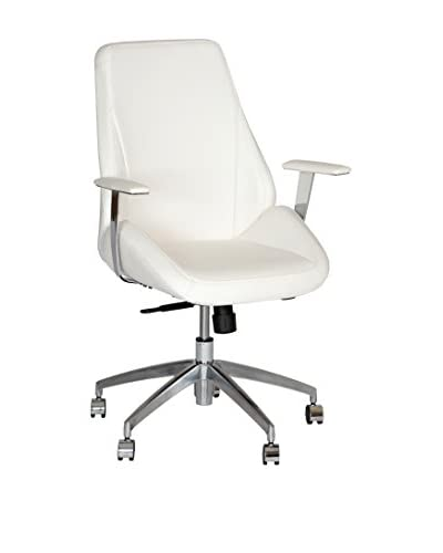 Armen Living Argo Contemporary Office Chair, White
