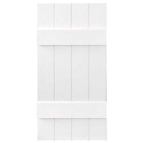 Builders Edge Board-N-Batten 4 Boards Joined in Bright White - Set of 2 (14 in. W x 1 in. D x 58.75 in. H (7.68 lbs.)) at Sears.com