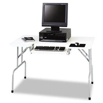 Buy Low Price Comfortable Folding Computer Table – Gray – TABLE FOLDING COMPUTER GRY – Safco 1935GR (B004QDJ3AK)