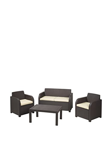 Suntime Oklahoma Lounge Set with Cushions, Brown