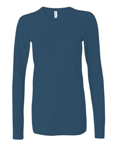 Bella Ladies' Long Sleeve Thermal Tee Shirt B8500 (X-Large, Deep Teal) front-947212