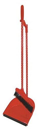 Primal Designs ほうきとちりとりのセット ブルーム&ダストパンドット レッド 約:26×79cm