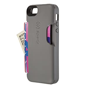 Speck Products SmartFlex Card Case for iPhone 5 & 5S - Retail Packaging - Graphite Grey