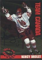 Nancy Drolet, Team Canada Women, 1994 Classic Prospects Autographed Card