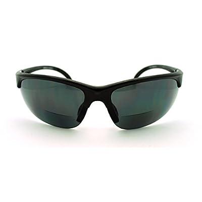 Mens Sunglasses with Bifocal Reading Lens Half Rim Sports Fashion