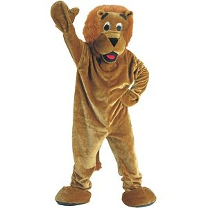 Lion Mascot Adult Halloween Costume Size Standard