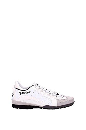 Dsquared2 Herrenschuhe Herren Leder Schuhe Sneakers 551 Weiß EU 44 W16SN434 715 1062 thumbnail