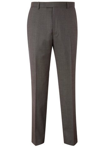 Austin Reed Contemporary Fit Brown Pindot Trousers REGULAR MENS 38
