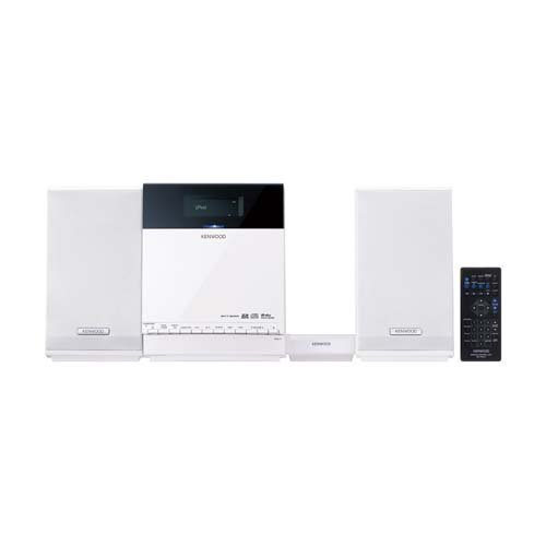 ケンウッド iPhone/iPod/CD/USB/SD コンパクトHi-Fiシステム (ホワイト) C-414-W