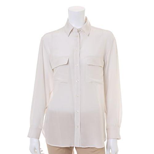 (イネド)INED シルク100%シャツブラウス DRESS4月号掲載 VERY4月号掲載 オフホワイト 09