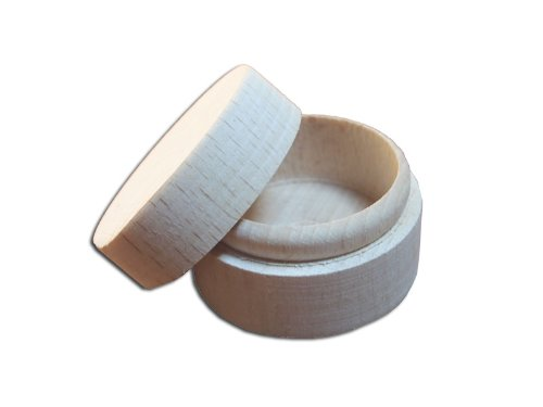 Plain wooden Ring Box/ Trinket Box with Lid/ Round Ring Box to decorate