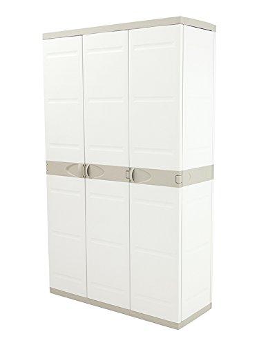 Plastiken Titanium Armarios, Plástico, Beige, 105x44x176 cm