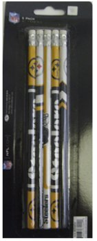 Pittsburgh Steelers 5 Pack Pencils (48 Pieces) [Office Product] assorted cartoon pencils 5 pack